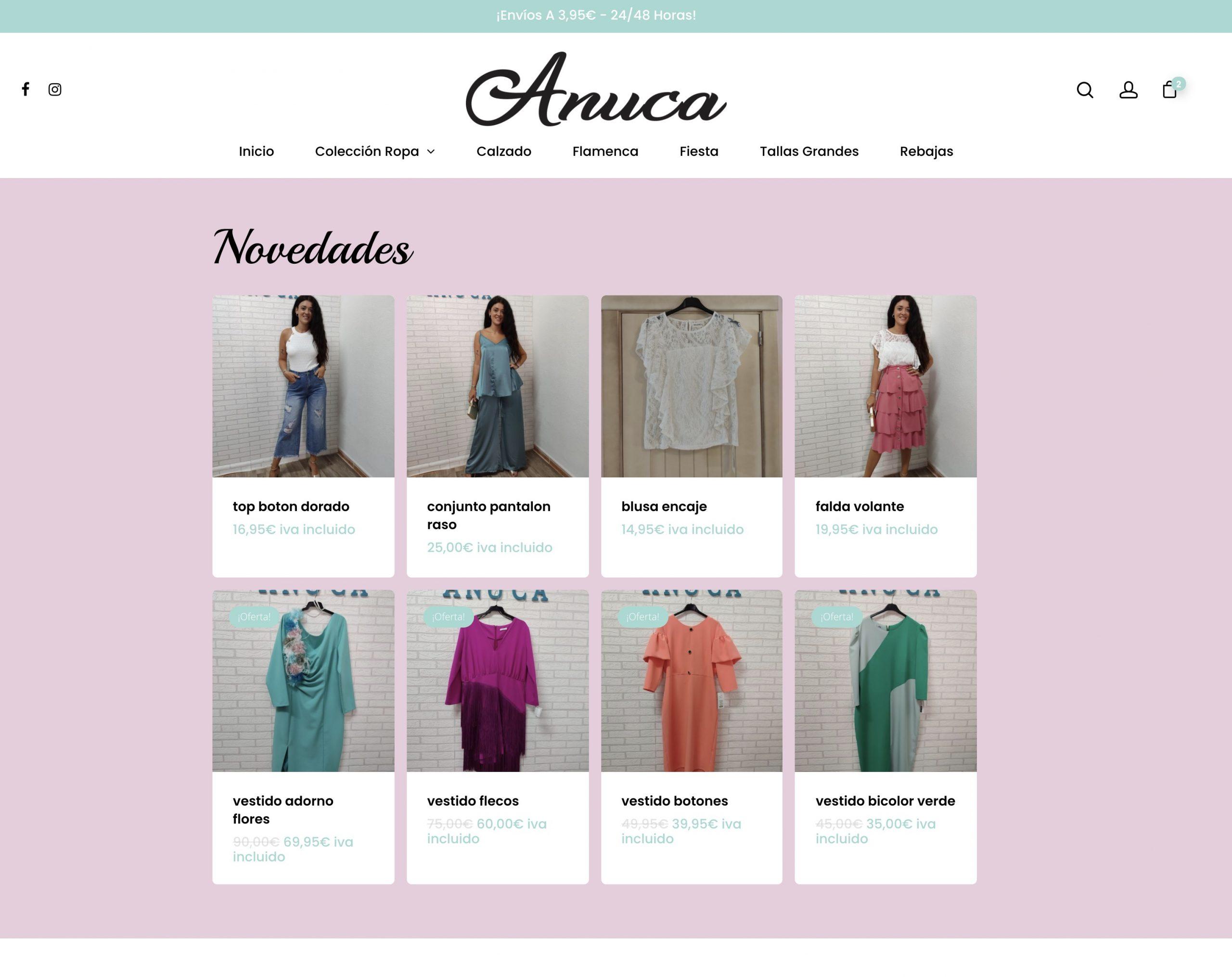 Tienda Online – Anuca.es os presentamos su tienda